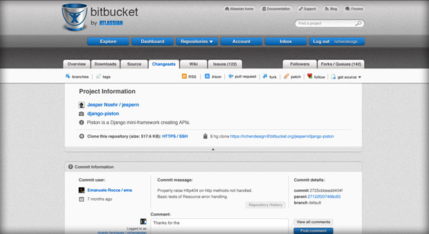 Bitbucket Changeset Design