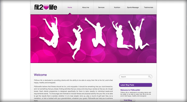 Fit2lovelife website