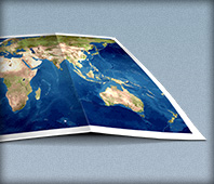 World Map Folded Icon