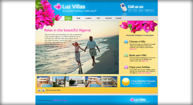 Luz Villas website